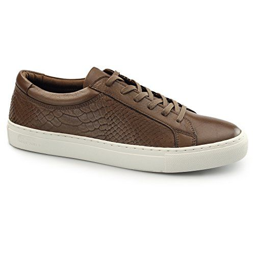 Jack & Jones Galaxie Mens Leder Reptil Ausbilder Kognak - http://on-