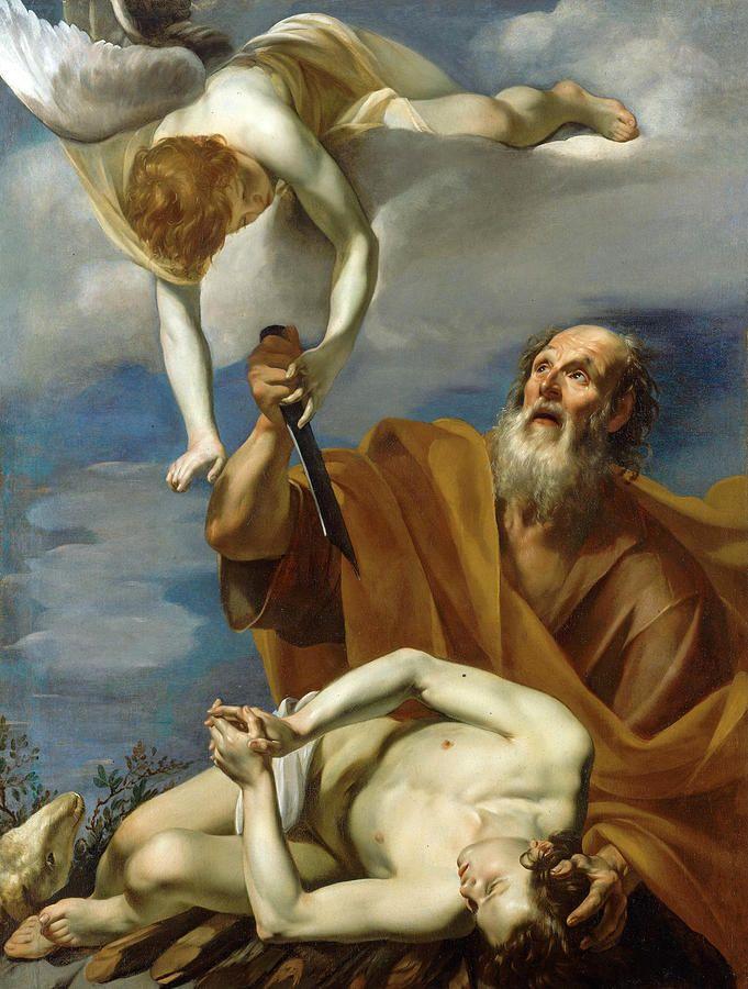 The Sacrifice Of Isaac Painting The Sacrifice Of Isaac By Orazio Riminaldi Painting Art Sacred Art