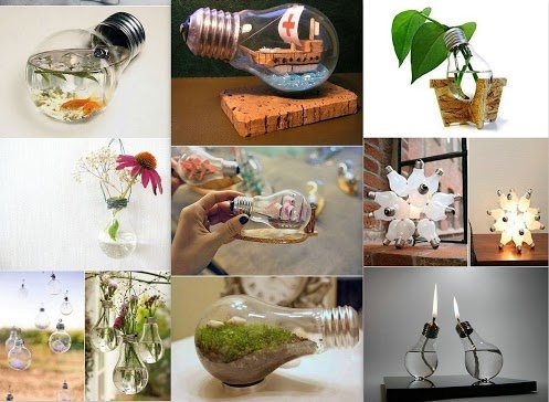 Creative recycling ideas for light bulbs creative for Creative ideas from waste things