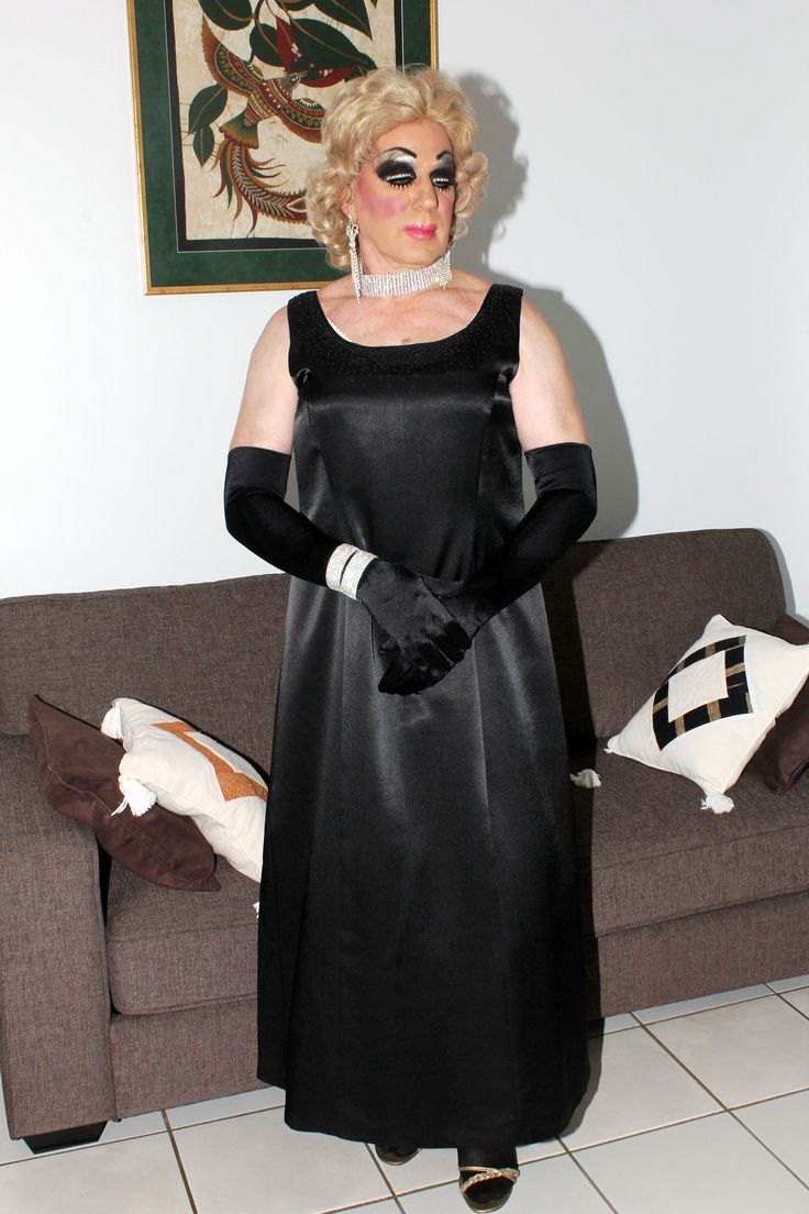 Black gloves for gown - Black Satin Gown
