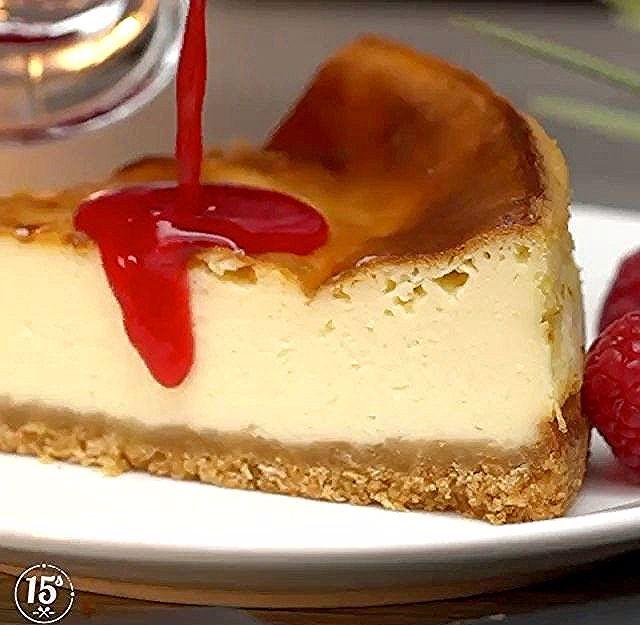 Hanaa Cook On Instagram تشيز كيك نيويورك 15smeals 15smeals 15smeals القاعدة 1 1 4 كوب بسكويت شاهي مطحون 3 4 اصب Cheesecake Food Recipes