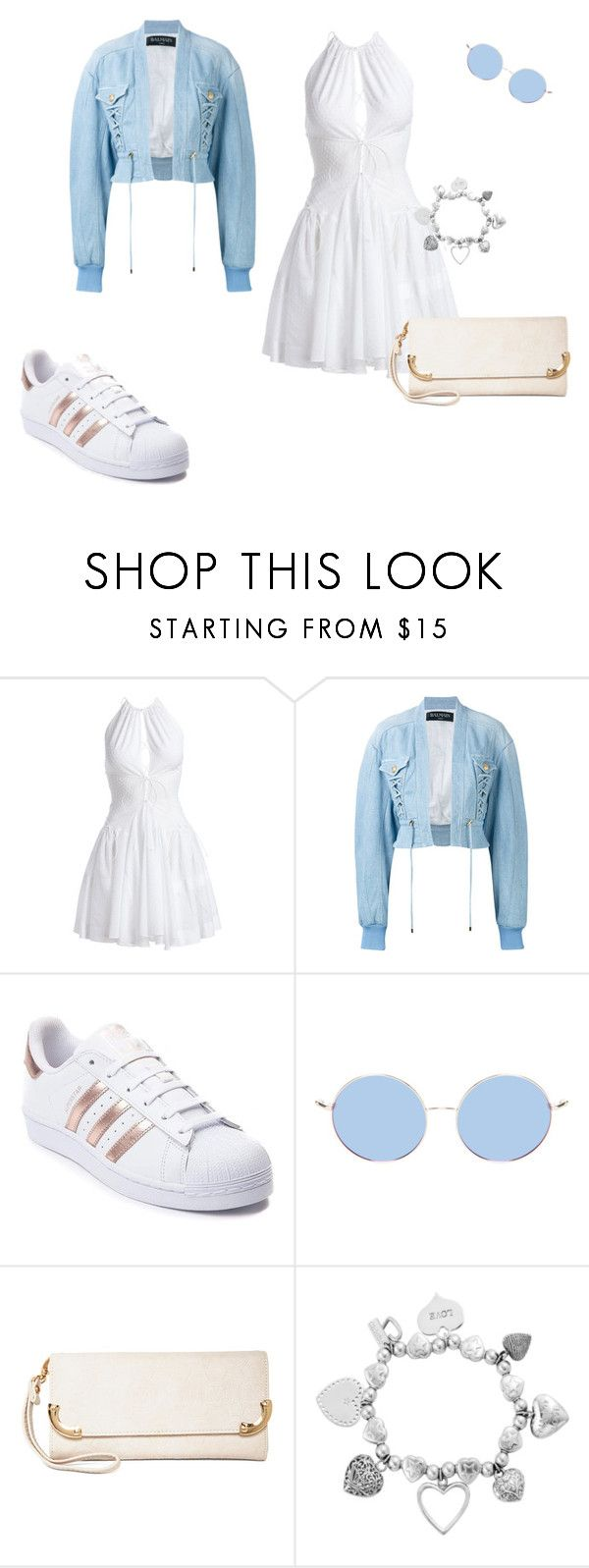 """summer"" by heddastoltnielsen on Polyvore featuring Alaïa, Balmain, adidas, MKF Collection and ChloBo"