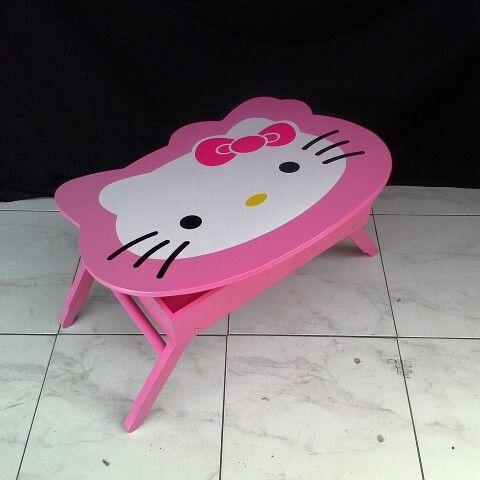 Meja lipat anak hellokitty dengan laci atau box penyimpanan. 200rb 085649626866