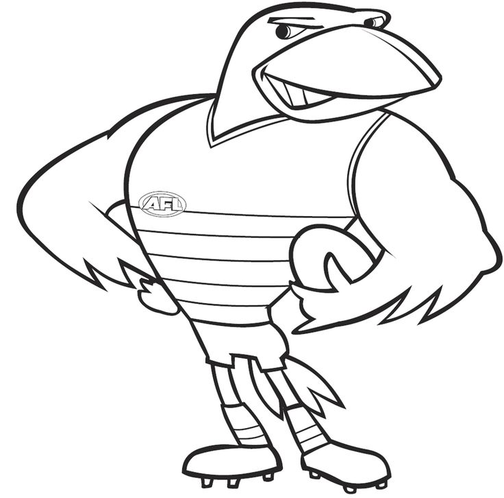 438 Best Images About Adelaide Crows On Pinterest L Wren Afl Colouring In Pages