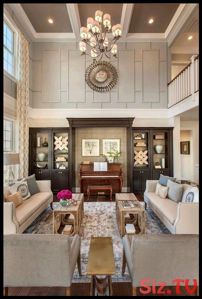 20++ High ceiling living room paint ideas info