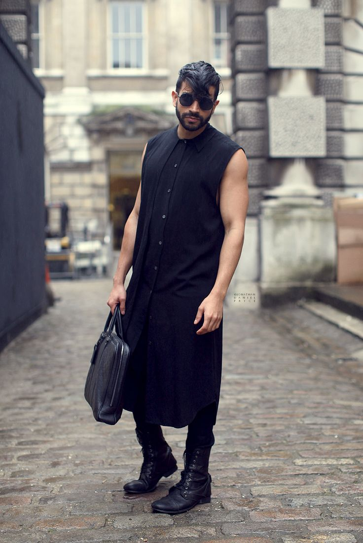 Nik Thakkar carries a Louis Vuitton handbags on the streets of London. (Photography by Jonathan Daniel Pryce via karlismyunkle.com)