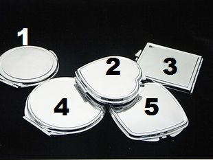 Blank shapes dual mirror metal compact great for diy bling | chriszcoolstuff - Craft Supplies on ArtFire