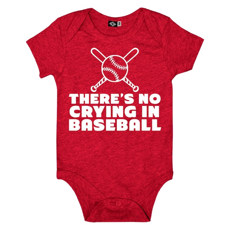 $16.80   Baby No Crying In Baseball Onesie (Vintage Red)