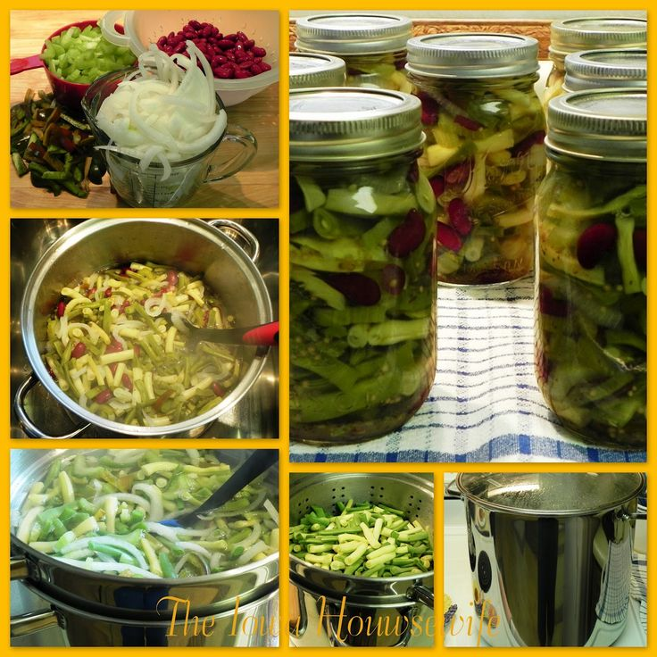 The Iowa Housewife: Pickles and Relishes - Home Canned Three Bean Salad