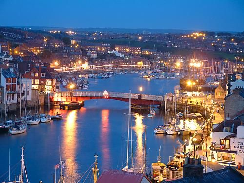 Whitby (North Yorkshire, England) where Brahm Stoker wrote Dracula. Had the best fish and chips ever here!