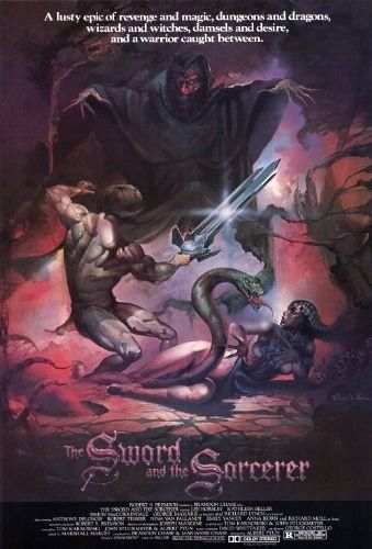 The Sword and the Sorcerer (1982) Directed by Albert Pyun.  With Lee Horsley, Kathleen Beller, Simon MacCorkindale, George Maharis. A mercenary with a three-bladed sword rediscovers his royal heritage dangerous future when he is recruited to help a princess foil the designs of a brutal tyrant and a powerful sorcerer in conquering a land.