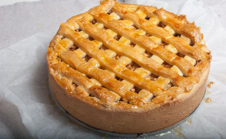 Het recept voor deze heerlijke appeltaart vond ik in het het Blue Band kookboek van 'Van Piepers tot Pasta'. Het is inmiddels een geliefd recept hier in