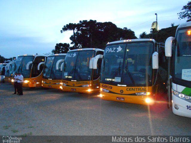 Ônibus da empresa Central S.A. Transportes Rodoviários e Turismo, carro 6809, carroceria Marcopolo Paradiso G6 1200 HD, chassi Mercedes-Benz O-400RSE. Foto na cidade de Caxias do Sul-RS por Mateus dos Santos Barros, publicada em 27/05/2014 03:49:01.