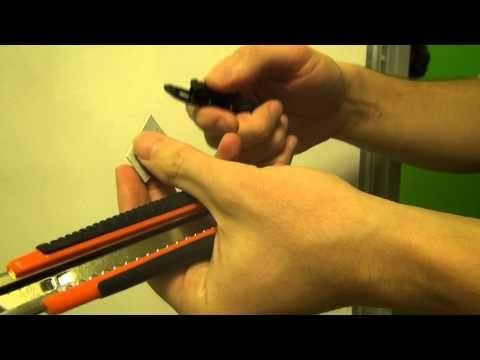 Заменить лезвие канцелярского ножа — как обновить лезвие в ноже