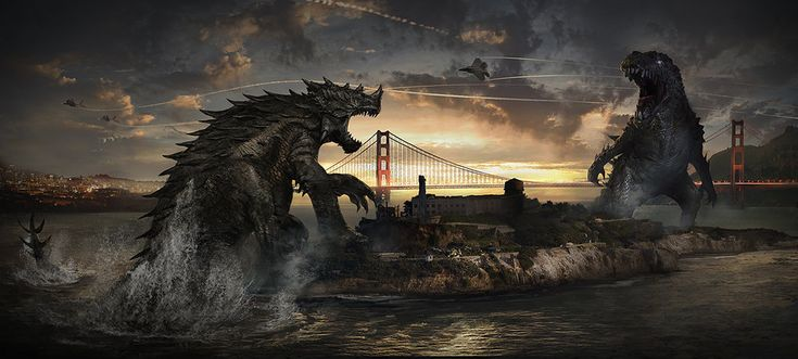 Early concept art for the latest Godzilla film, featuring Anguirus? That would have been awesome...