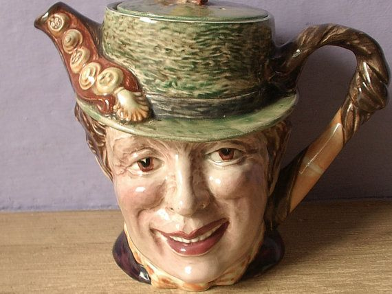 vintage English teapot Beswick Sam Weller Charles by ShoponSherman,