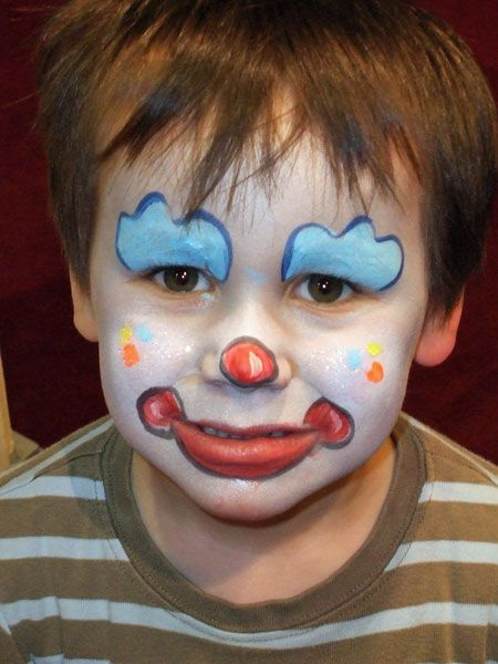Clown face circus face painting and fancy dress for children pinterest face painting - Maquillage simple enfant ...