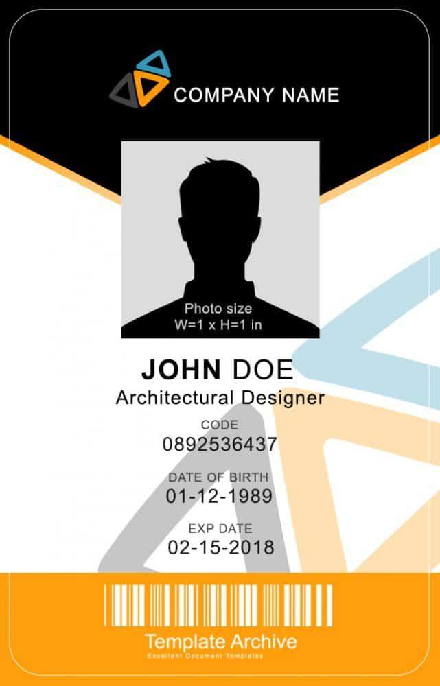16 Id Badge Id Card Templates Free Template Archive Kartu Nama Contoh Kartu Nama Kartu