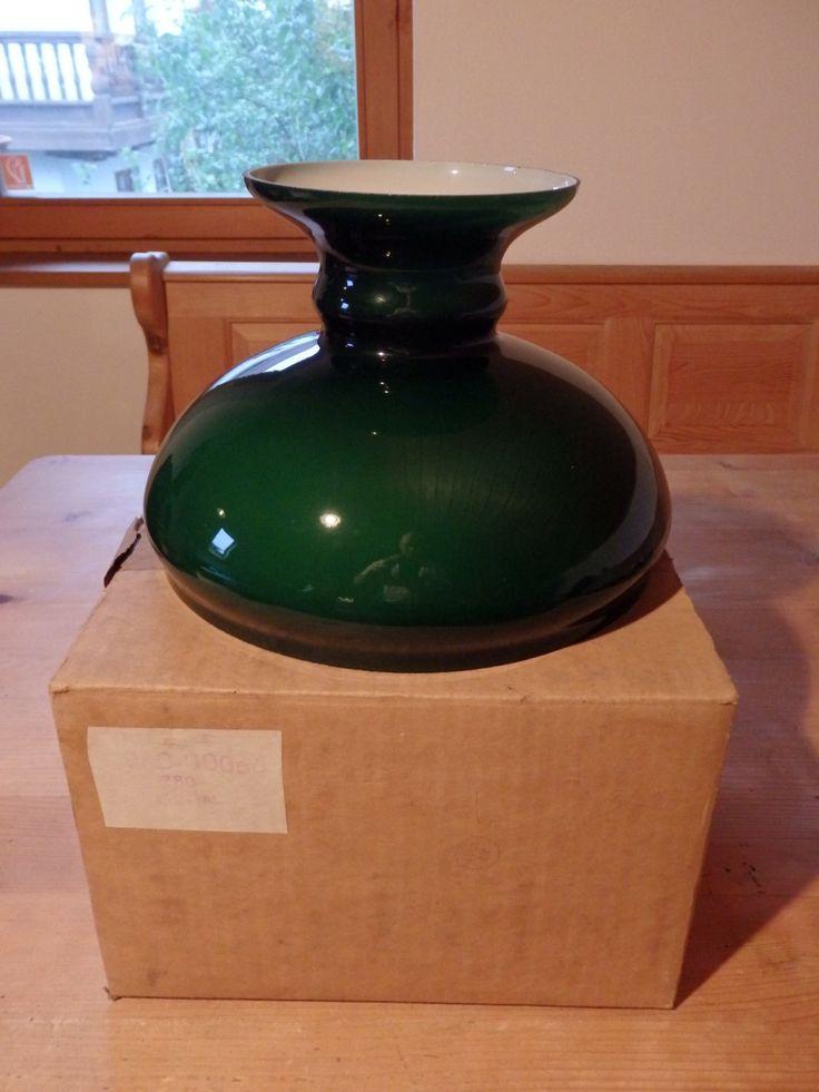 Emerald Green Vintage, Retro Glass Lamp Shade, lampshade light, HAND BLOWN Glass Lamp Shade, Petroleumlampenschirm grün, Lampenschirm Glas von werorowe auf Etsy