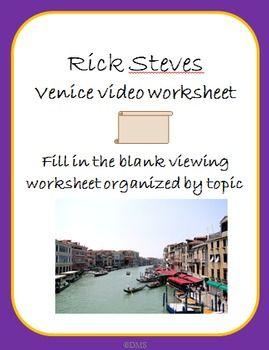 Rick Steves Venice Video Notes