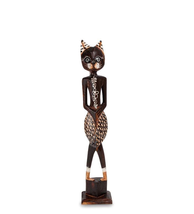 Статуэтка «Кошка» 35-048 (о. Бали)      Страна производства: Индонезия;   Материал: албезия;   Высота: 60 см;          #figurines #cats #Indonesia #кошки #статуэтки #фигурки #индонезия #дерево #албезия #wood