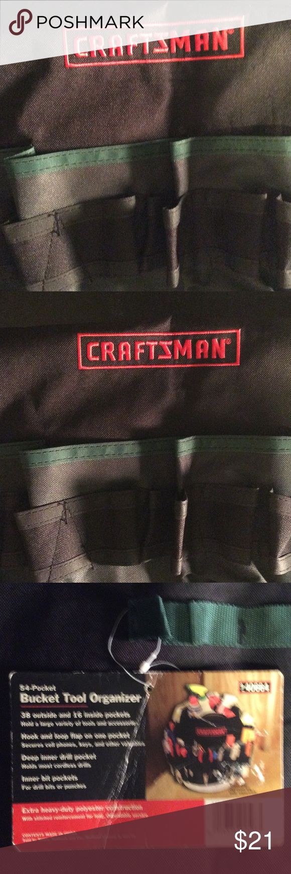 Sears Craftsman 54 Pocket Bucket Tool Organizer Sears Craftsman 54 Pocket Bucket Tool Organizer, 38 inside and 16 inside pockets. Other