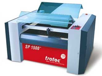 SP1500 laser cutter, a large format laser cutting system with a working area 59 inches x 49 inches