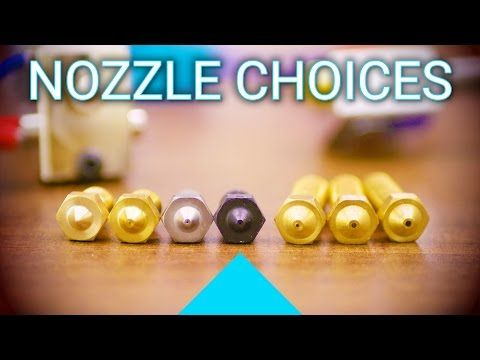 How to pick a 3D printer nozzle and how to install it! - YouTube
