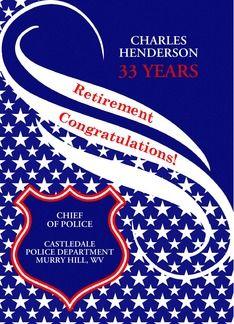 Custom Law Enforcement Retirement Congratulations (1081840)