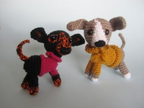 Crochet Easy Beginner Amigurumi Pitbull Puppy Dog DIY tutorial - YouTube
