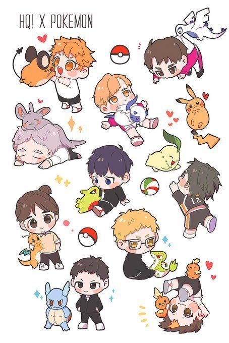 Haikyuu x pokemon crossover (Twitter: ninecoin_9) – #crossover #Haikyuu #ninecoi…