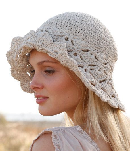 100% ORIGINAL ITALIAN QUALITY THIS GARMENT IS ENTIRELY HAND MADE. IT HAS THE BEST WORKMANSHIP AND FINEST CERTIFIED YARNS.  This hat is just perfect for the beach, for a boat trip, for a pic nic, for a holiday in Italy...  DROPS Muskat is spun from multiple thin strands which make it extremely strong and durable and give the yarn a gentle shine and great shape stability. Made in EU Oeko-Tex® certificate. Machine wash on gentle cycle warm 40°C / 104F. Dry Flat  Sizes S/M - head circu...