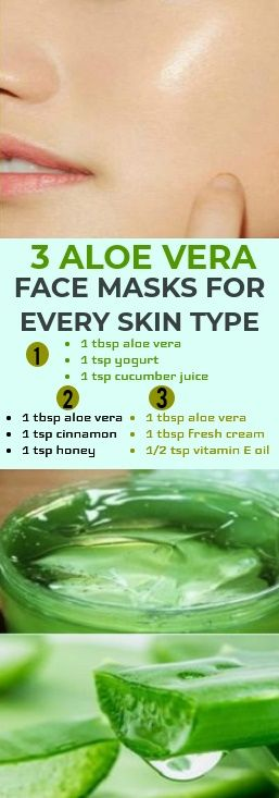 Before you go ahead and try any of these masks, please make sure that you're using 100% pure aloe vera gel! You can harvest it directly from an aloe plant if you have one, or you can