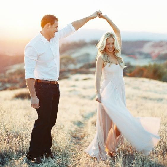 Lovely couple in their non-traditional engagement photo. : @StyleMePretty #engaged