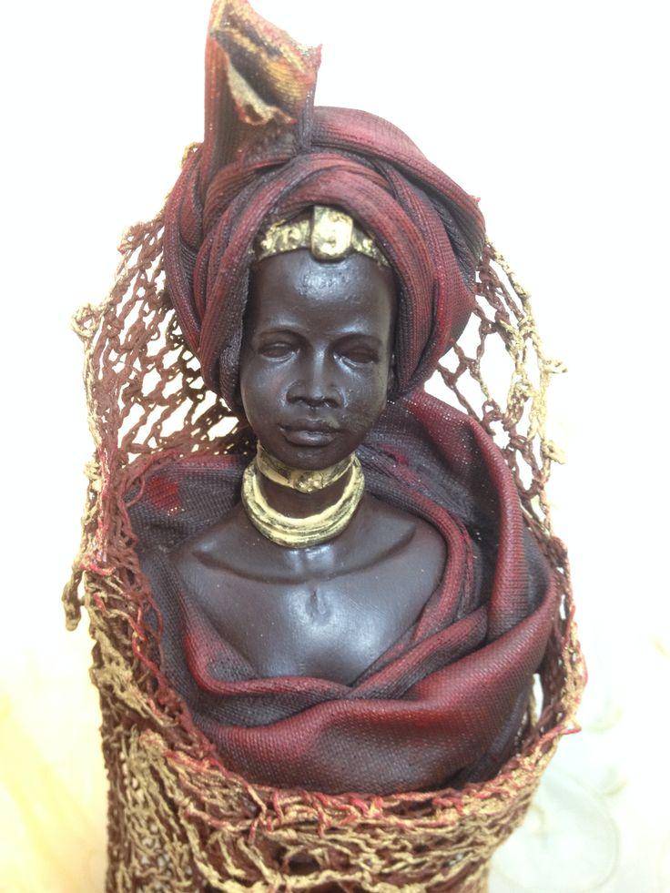 Powertex Sculpture by Joyce Edunjobi from Phoenix Living Arts www.phoenix-living-arts.de