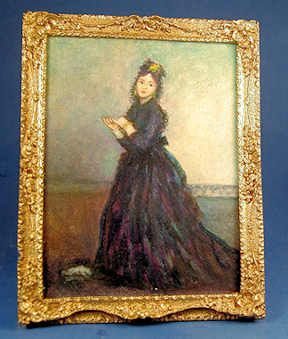 """Josephine Meyer, IGMA artisan - oil paintiing, """"Woman With Glove"""", Original by Duran, selling on SP Miniatures for $195"""