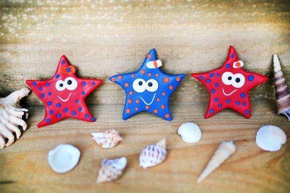 Starfish magnet, Sea star fridge magnet, Animal magnet, Sea life magnet