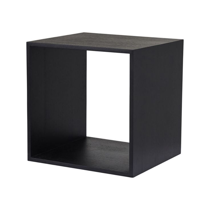 Modular Square Box Shelves - Black Ash Timber Storage Solution