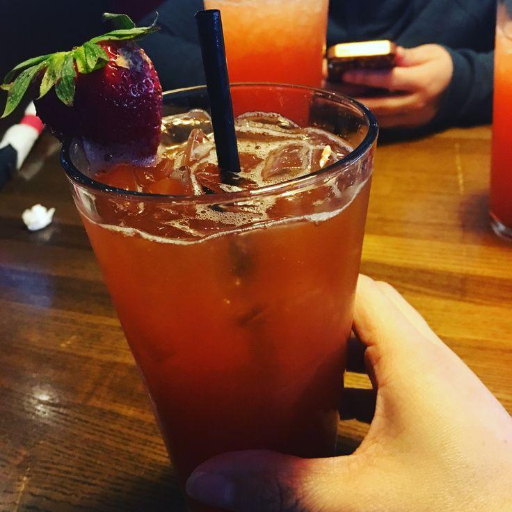 Strawberry ice tea
