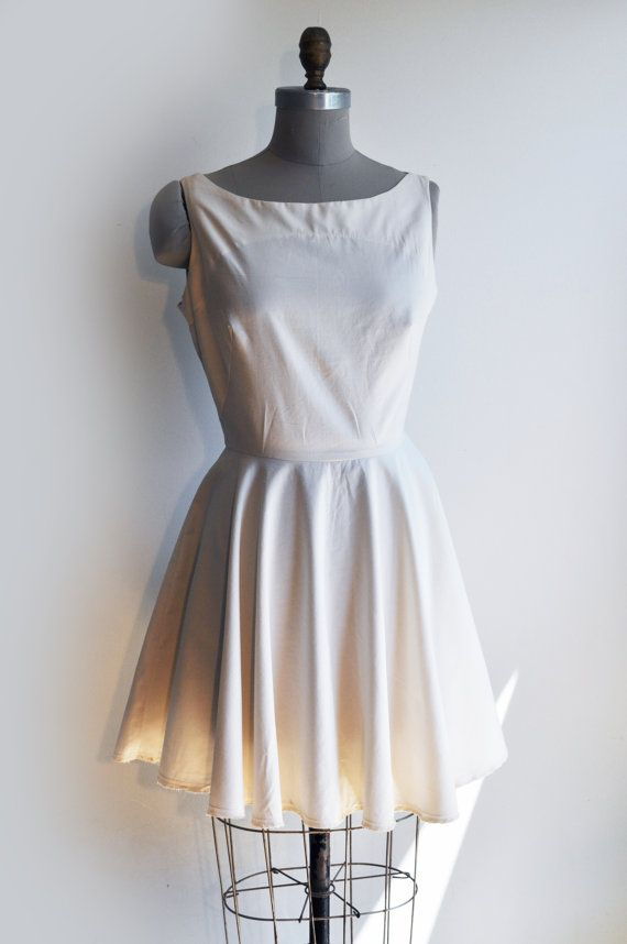 Ivory short classic  Lolita1950s look  by VintagesqueClothing