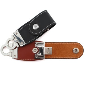 Leather USB drives.