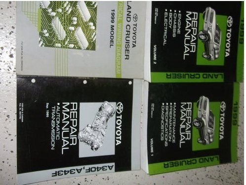 17 best images about toyota land cruiser manuals 1999 toyota land cruiser service repair shop manual set oem factory books huge 2 volume