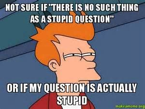 no such thing as a stupid question meme - Yahoo Image Search Results