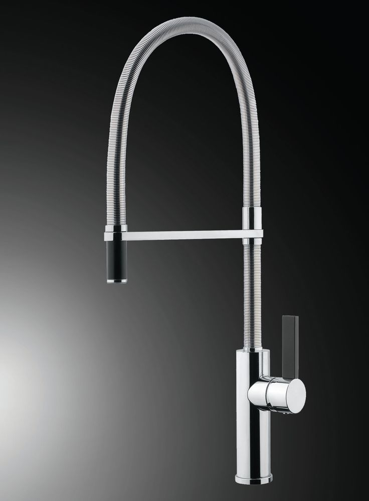 Flambe round Single Lever Kitchen Miut shower With Turning Spout shower. Armando Vicario  By Hafele
