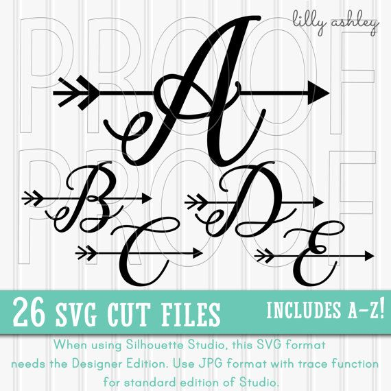 Arrow Letter SVG set Includes A through Z by LillyAshley