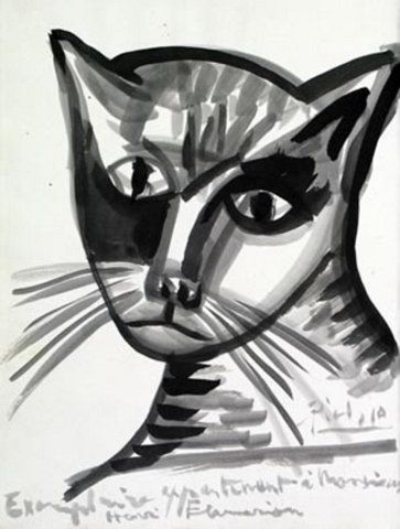 Cat | watercolour painting | Pablo Picasso