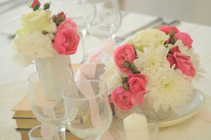 Vintage  decoration Wedding decoration Bori Dekor Flowers Pink