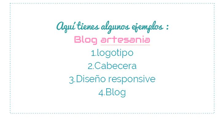 Ejemplo Blog Artesanía,creación cabecera,homepage,enlaces a redes sociales, responsive.