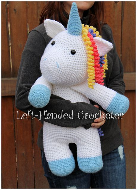Ravelry: Sir Sprinkles the Giant Unicorn pattern by The Left-Handed Crocheter