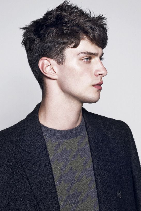 Matthew Bell for Ezio F/W 2014 Black hair